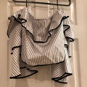 Missguided Off the shoulder ruffle blouse